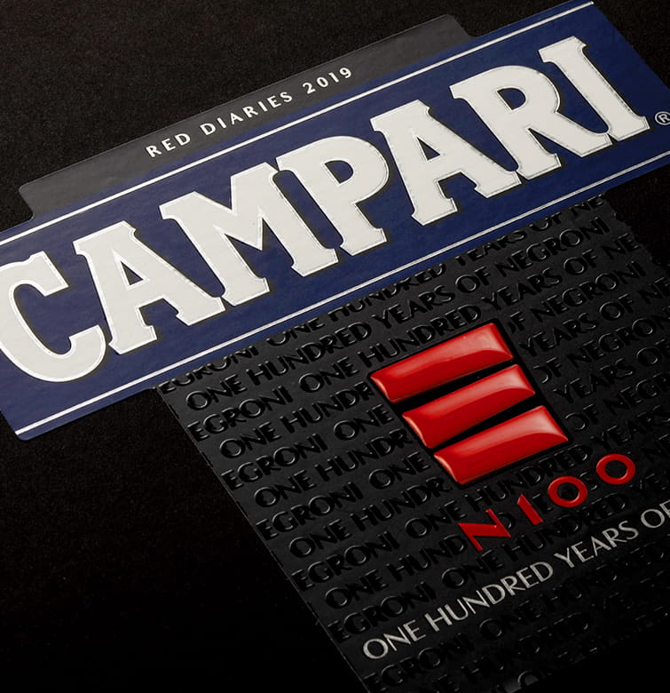 Campari partial resin labels